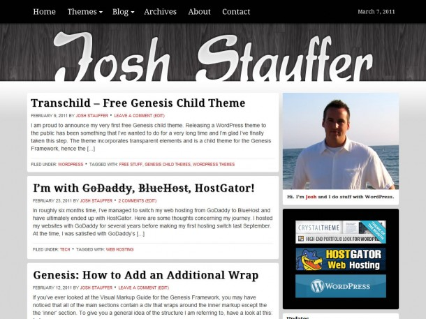 Josh Stauffer Redesign