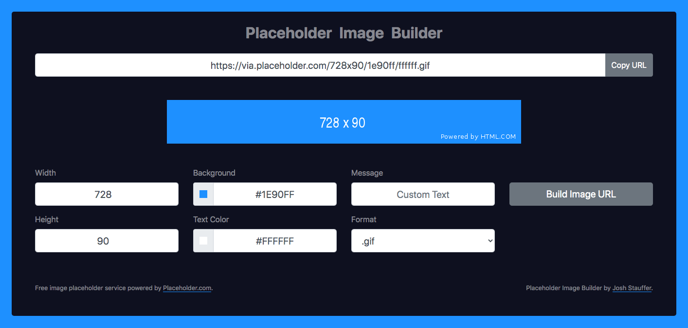 Placeholder Image Builder